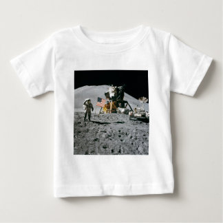 Astronaut and American Flag Apollo Moon Mission Baby T-Shirt