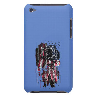 Astronaut and american flag Case-Mate iPod touch case