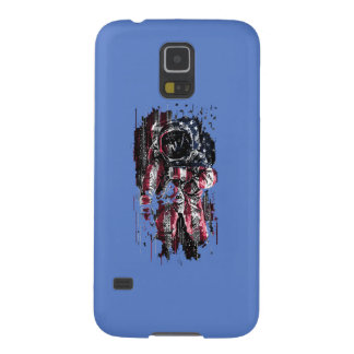 Astronaut and american flag galaxy s5 case