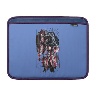 Astronaut and american flag sleeve for MacBook air