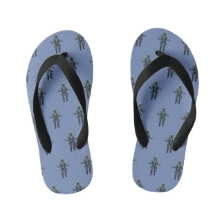 Astronaut and butterfly kid's flip flops