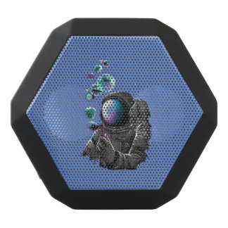 Astronaut and planets black bluetooth speaker