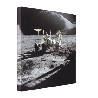 Astronaut and Rover Canvas Prints