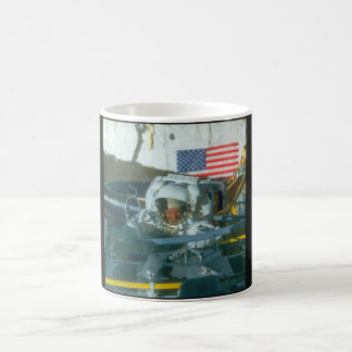 Astronaut. (astronaut;flag_Space Coffee Mug