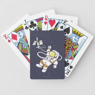 Astronaut Bicycle Playing Cards
