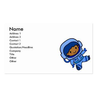 Astronaut boy business card templates