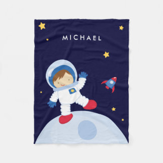 Astronaut Boy Fleece Blanket