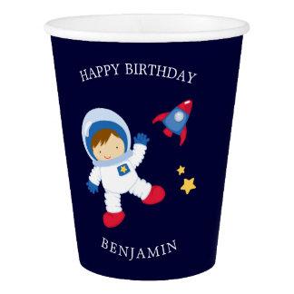 Astronaut Boy Kids Birthday Paper Cup