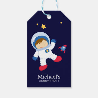 Astronaut Boy Kids Birthday Party Pack Of Gift Tags
