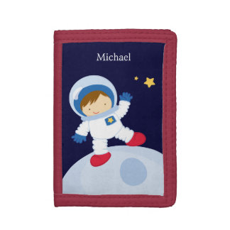 Astronaut Boy Trifold Wallet