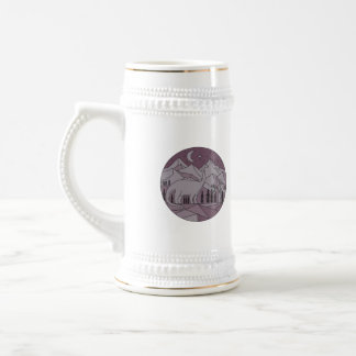 Astronaut Brontosaurus Mountain Moon Circle Mono L Beer Stein