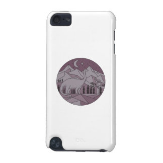 Astronaut Brontosaurus Mountain Moon Circle Mono L iPod Touch 5G Cover