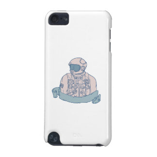 Astronaut Bust Ribbon Drawing iPod Touch 5G Case