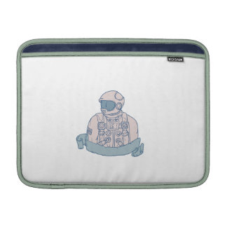 Astronaut Bust Ribbon Drawing Sleeve For MacBook Air
