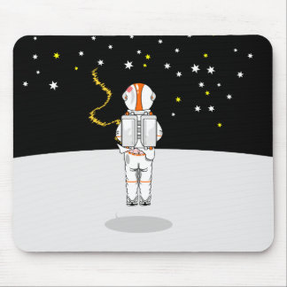 Astronaut Caught Short Weeing in Space Mouse Pad