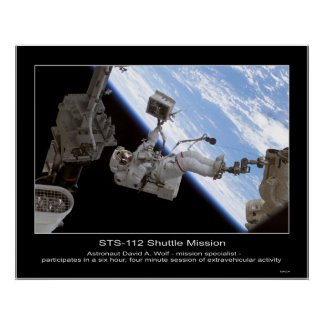 Astronaut David A. Wolf STS-112 Space Walk Poster