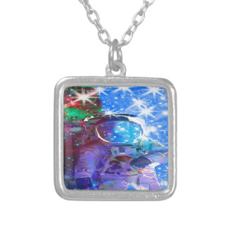 Astronaut Dimensions Silver Plated Necklace