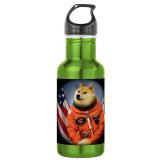 astronaut dog  - doge - shibe - doge memes 532 ml water bottle