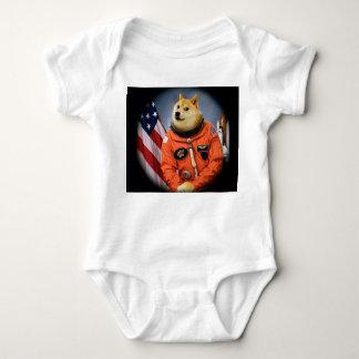 astronaut dog  - doge - shibe - doge memes baby bodysuit