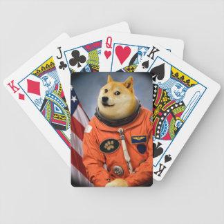 astronaut dog  - doge - shibe - doge memes bicycle playing cards