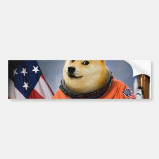 astronaut dog  - doge - shibe - doge memes bumper sticker