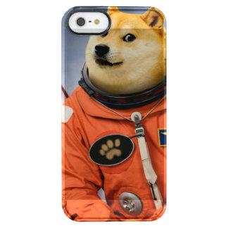 astronaut dog  - doge - shibe - doge memes clear iPhone SE/5/5s case