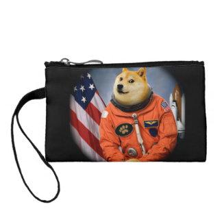 astronaut dog  - doge - shibe - doge memes coin purse