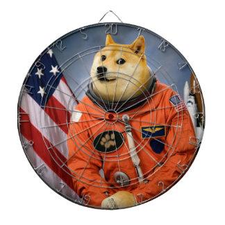 astronaut dog  - doge - shibe - doge memes dartboard