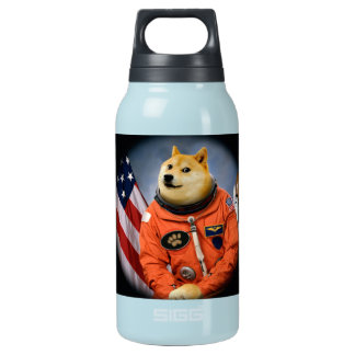 astronaut dog  - doge - shibe - doge memes insulated water bottle