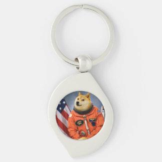 astronaut dog  - doge - shibe - doge memes keychain