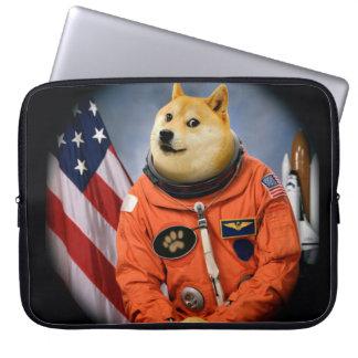 astronaut dog  - doge - shibe - doge memes laptop sleeve