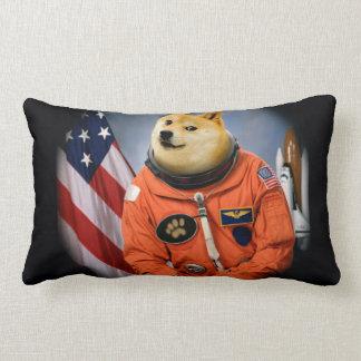 astronaut dog  - doge - shibe - doge memes lumbar pillow