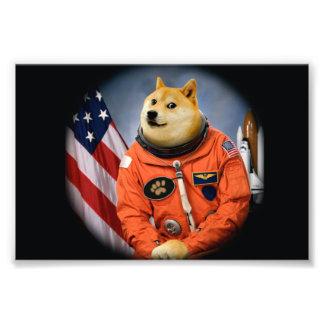 astronaut dog  - doge - shibe - doge memes photographic print