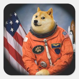 astronaut dog  - doge - shibe - doge memes square sticker