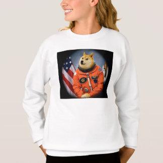 astronaut dog  - doge - shibe - doge memes sweatshirt