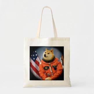 astronaut dog  - doge - shibe - doge memes tote bag