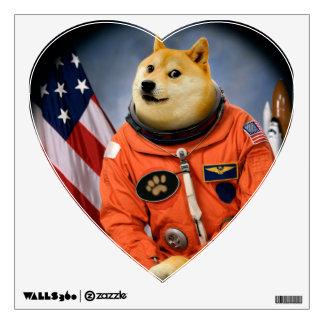astronaut dog  - doge - shibe - doge memes wall decal