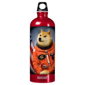 astronaut dog  - doge - shibe - doge memes water bottle