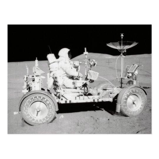 Astronaut driving Lunar Lander on the Moon Postcard