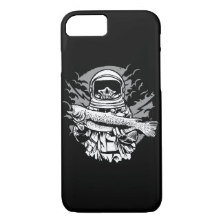 Astronaut Fishing Glossy Phone Case