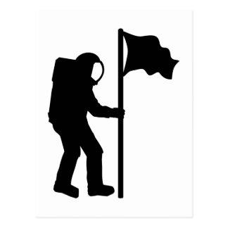 Astronaut flag postcard