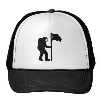 Astronaut flag trucker hat