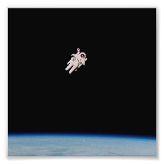 Astronaut Floating in Open Space - NASA- Photo
