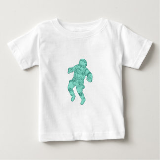 Astronaut Floating in Space Drawing Baby T-Shirt