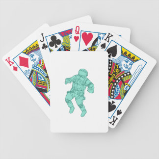 Astronaut Floating in Space Drawing Bicycle Playing Cards