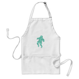 Astronaut Floating in Space Drawing Standard Apron