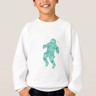Astronaut Floating in Space Drawing Sweatshirt