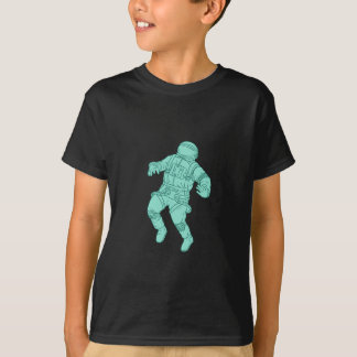 Astronaut Floating in Space Drawing T-Shirt