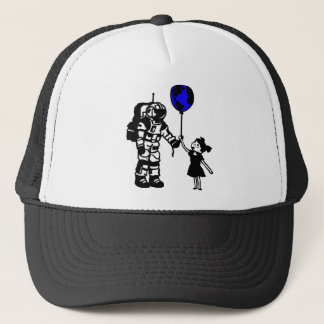 Astronaut Girl and the world Trucker Hat