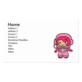 Astronaut Girl Business Cards
